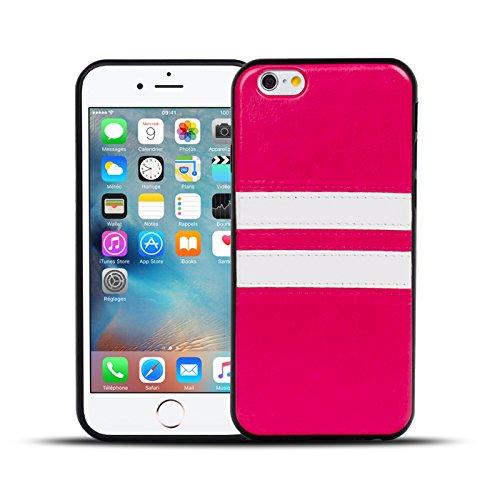 iPhone 4S , 4 Hülle, Conie Mobile Backcover für iPhone 4S , 4 Rückschale Sport Design Case Schutzhülle aus TPU Silikon in Braun Pink