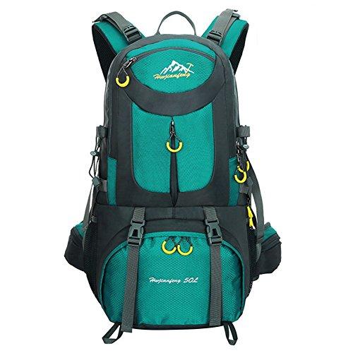 Imagen de  de 50 litros, ideal para deportes al aire libre, senderismo, trekking, camping travel, escalada. bolso impermeable del alpinismo, daypacks que suben del recorrido, , . aguamarina  alternativa