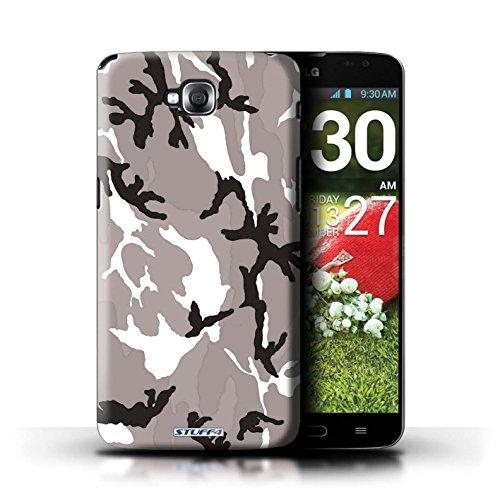 Kobalt® Imprimé Etui / Coque pour LG G Pro Lite/D680 / Blanc 2 conception / Série Armée/Camouflage Blanc 4