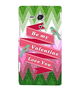 EPICCASE valentine love Mobile Back Case Cover For Sony Xperia SP (Designer Case)