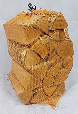 net of logs - firewood - hardwood - silver birch - 15kg - 40 litre - 25cm long
