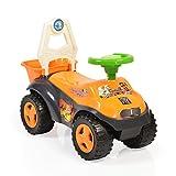Moni Rutscher Sand Beach 8206 mit Korb für Spielzeug, Melodien, ab 3 Jahre orange