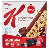 Kellogg's Barrette di Cereali con Cioccolato Fondente - 6 Pezzi