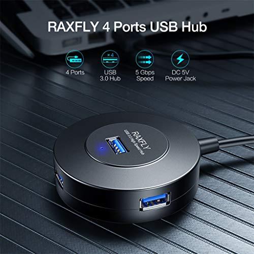 Webla Praktischer, ultradünner USB3.0 SuperSpeed   5-Port 5-Gbit/s-Hub mit EIN/AUS-Schalter, ABS -