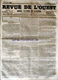Telecharger Livres REVUE DE L OUEST No 57 du 12 05 1855 JOURNAL POLITIQUE ET D ANNONCES (PDF,EPUB,MOBI) gratuits en Francaise