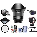 IRIX 15mm F/2.4 Blackstone Lens For Nikon DSLR Cameras - Manual Focus - Bundle With 95mm Uv Filter, LensAlign MKII Focus Calibration System, FocusShifter DSLR Follow Focus, And More