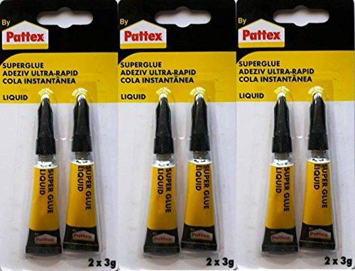 Pattex Sekundenkleber 2 x 3g flüssig liquid (6 x 3 g)