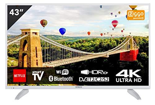 Hitachi 43HK6003W Téléviseur 43' Ultra HD 4K TV Smart TV avec Internet/WLAN et Bluetooth intégré...