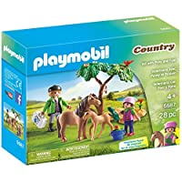 Playmobil Country Vet With Pony And Foal Building Set 5687
