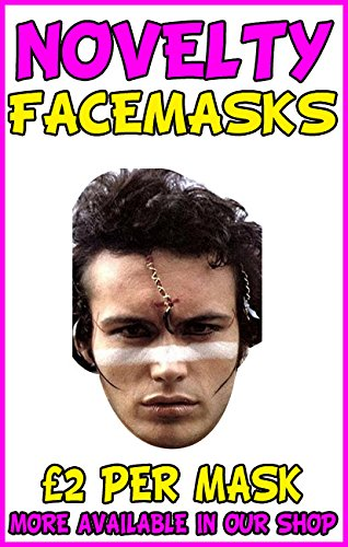 Adam Ant Novelty Celebrity Face Mask
