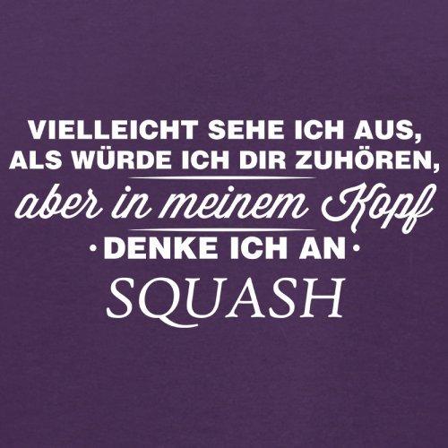 Vielleicht sehe ich aus als würde ich dir zuhören aber in meinem Kopf denke ich an Squash - Herren T-Shirt - 13 Farben Lila