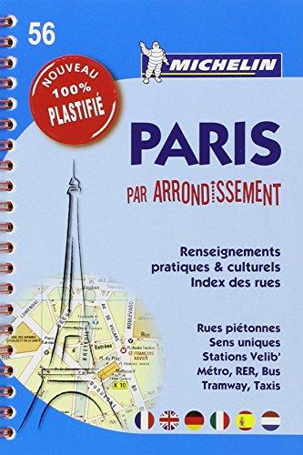 Plan Paris par arrondissement (spirale plastifié) Michelin par Collectif Michelin