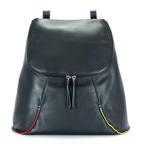 MyWalit en cuir Grand sac à dos collection San Remo 1831 Black Pace