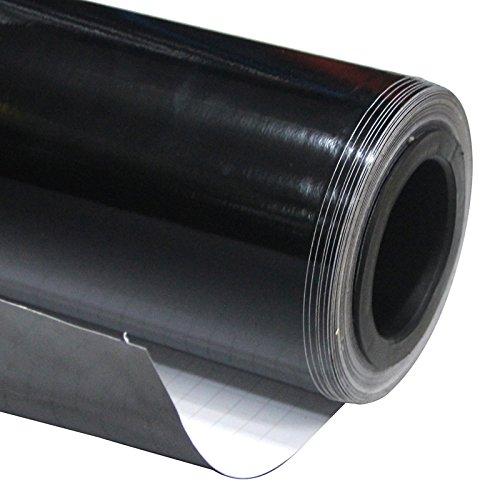 Finitura Lucida in Vinile Wrap Pellicola Car Wrapping grafiche 50cm x1.52m (0.5m x1.52m) (48,3x 149,9cm) (Nero)