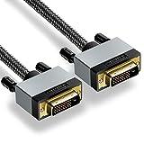 DVI auf DVI Kabel 2M, Posugear Nylon Geflochten DVI-D auf DVI-D Monitor Kabel 1080p, Dual Link 24+1, HDTV Auflösung bis 1920*1080, vergoldete Kontakte