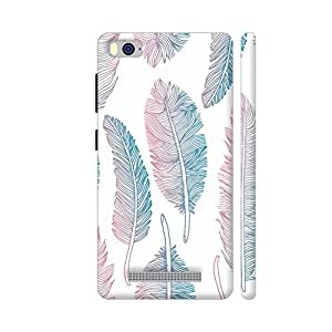 Colorpur Colorful Hand Drawn Feathers On White Printed Back Case Cover for Xiaomi Mi 4i