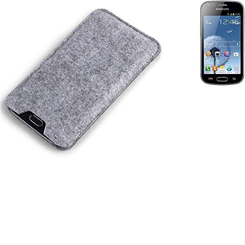 K-S-Trade Filz Schutz Hülle für Xiaomi Tech Mi 4i Schutzhülle Filztasche Filz Tasche Case Sleeve Handyhülle Filzhülle grau