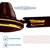 Sameer Jewel 48 Sparkling Gold 3 Blade Ceiling Fan- Gold/Brown