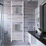 COSTWAY Handtuchwärmer Warmwasser Handtuchheizung Badheizkörper Handtuchheizkörper gerade Handtuchtrockner Halter Badezimmer Heizung Handtuchhalter Weiß (1600 x 500mm)