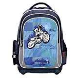 Motocross - Crossrider Motorrad - Schulrucksack Rucksack Wanderrucksack Sportrucksack Daypack...