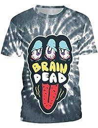 Gusspower Camiseta Hombres de Gran Tamaño, Camisa Hawaiana para Hombre Imprimir Camiseta Deportes Camisetas de Manga Corta…