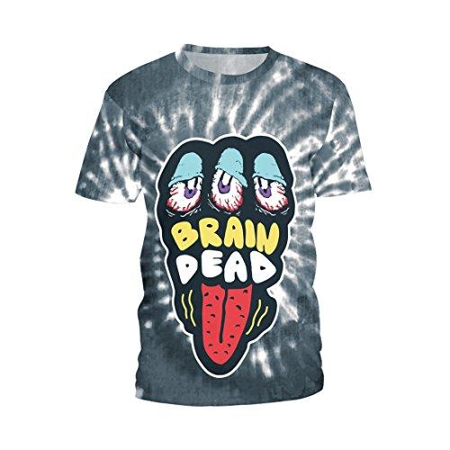 SEVENWELL Unisex Cartoon Digital Printed Shirts Ugly Hip Hop T-Shirt Funny Music Fan Tee
