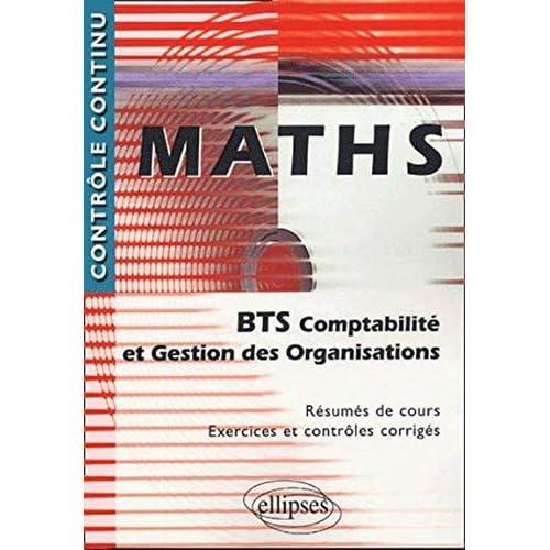 Maths - BTS Comptabilité et Gestion des organisations
