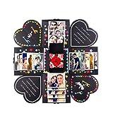 Kreative Überraschungsbox Explosionsbox DIY Faltalbum zum Selbermachen, DIY Hochzeitstag Geburtstag Geburtstag Weihnachtsgeschenkbox, Hochzeit, Muttertag, schwarz (Black)