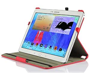 IVSO Slim-fit Stand Cover Case for Samsung Galaxy Note Pro 12.2 Tablet - with Multi-Angle View and Auto Sleep/Wake Function (Red)