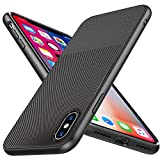 Coque iPhone X/Xs, Losvick Coque Silicone Bumper Souple[Anti-Choc Air Cushion]Coque...