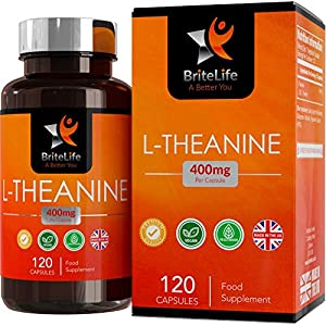 51sZrzuq0zL. SS300  - BL L Theanine Capsules High Strength 400mg Per Vegan Capsule | 120 Vegan Tablets | High Strength Nootropic Supplement…
