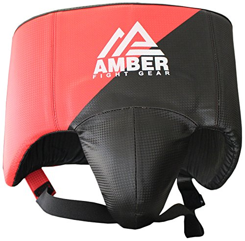 Amber Fight Gear No Foul Afg MMA Abdo Guard Groin Cup Boxing Abdominal Protector Jock Strap Muay Thai Medium Black -