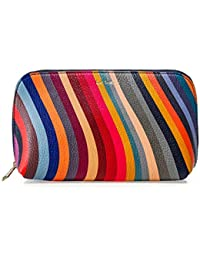 PS by Paul Smith Women's Swirl Print Leather Make-Up Pouch Multi Coloured