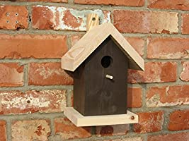Bird Nesting Box for blue tits, coal tits and marsh tits - conforms to RSPB specification - Brown
