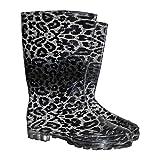 REIS Kurze Damenstiefel BTDWILD 36-42 Regenstiefel Regenschuh Gummistiefel Damenschuh Leopardenschuhe
