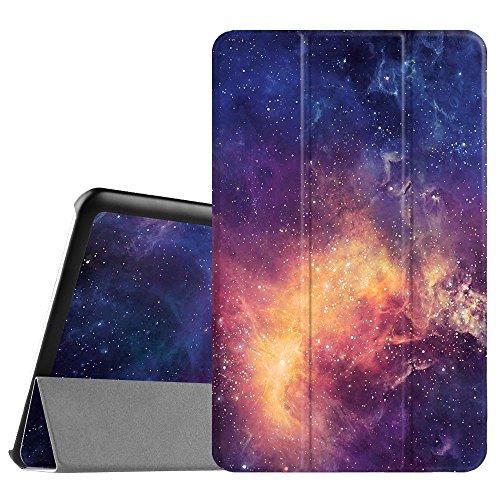 Fintie Samsung Galaxy Tab E 9.6 Hülle Case - Ultra Schlank Superleicht Ständer SlimShell Cover Schutzhülle Etui Tasche für Samsung Galaxy Tab E T560N 24,3 cm (9,6 Zoll) Tablet-PC, Die Galaxie