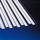 PVC Wellplatten Trapez 70/18 klar 3000 x 1090 mm Typ 900