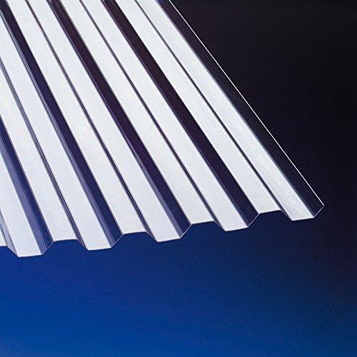 PVC Wellplatten Trapez 70/18 klar 2000 x 1090 mm Typ 900