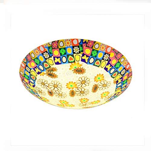 YANGWB2000 Sun Flower Decoration Deckenleuchte, rustikale Schlafzimmer Küche Restaurant Deckenleuchte, warme romantische Zimmerlampe Keramik bemalte Beleuchtung (Size : Diameter 30cm)