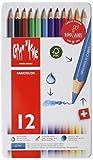 CARAN d'ACHE - FANCOLOR Aquarelle Kinder Buntstifte in Metallbox - 12 Stück