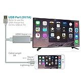 Iphone HDMI Fernsehkabel, Plug-and-Play, Blitz iphone zum HDMI HDTV-Anzeigenadapterkabel für...