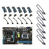 Swiftswan Mining Motherboard + 6 Stücke PCI-E Extender Riser Karte Für BTC ETH Rig Ethereum