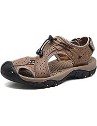 LEDLFIE Summer Beach Shoes Sandals Chaussures De Plein Air Matte pour Hommes,Black-38