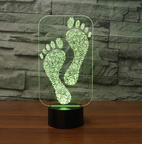 Shape 3D Nachtlicht LED Tischlampe 3D Lampe Touch USB Indoor Atmosphere Lampe ()