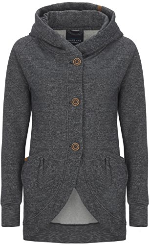 alife and Kickin Mary B Plus Sweatjacket L, Graphite