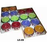 FunRobbers Lac Tea Light Designer Decoration Candle For Diwali Wedding Decoration Mahalakshmi Pooja- Set Of 8 (Made In India)