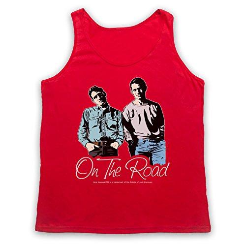 Jack Kerouac On The Road 4 Tank-Top Weste Rot