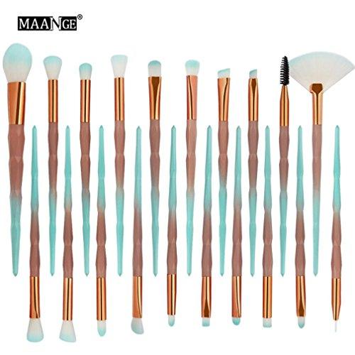 SOMESUN 20PCS/Set Pinsel Makeup Bürste Brush Foundation Lidschatten Professionelle Makeup Pinsel Lackierter Synthetisches Haar Pinselset Anzüge für Berufsverfassungs (20pcs, Green)