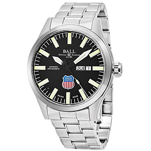 BALL MEN'S 45MM STEEL BRACELET & CASE AUTOMATIC BLACK DIAL WATCH NM1080C-S2-BK