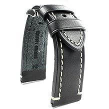24 mm QUALITY Reloj de piel auténtica Watch Strap resistente banda catal onia ...